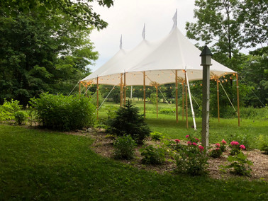 20x37 Tidewater Sailcloth Tent for a garden party
