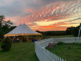 Sunset Over A Tidewater Tent