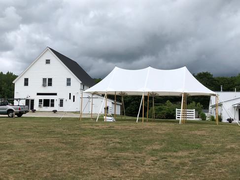 20x37 sailcloth tent