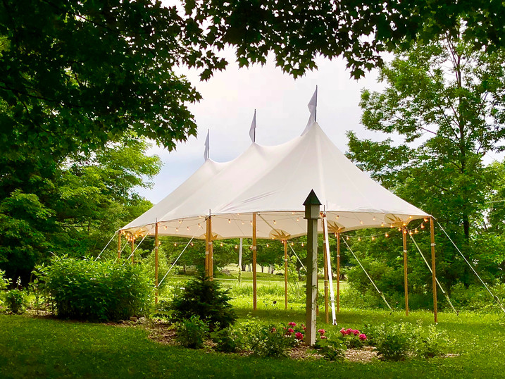 20x37 Tidewater Sailcloth Tent Garden Party
