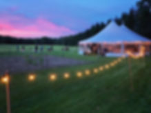 44x63 tidewater tent, sailcloth tent, rustic maine weddings, nautical wedings, tent rentals, wedding rentals,
