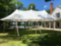 20x37 Tidewater Sailcloth in Freeport, Maine  rustic sailcloth tent wedding rentals