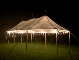 A Fully Lit 20x37 Tidewater Tent