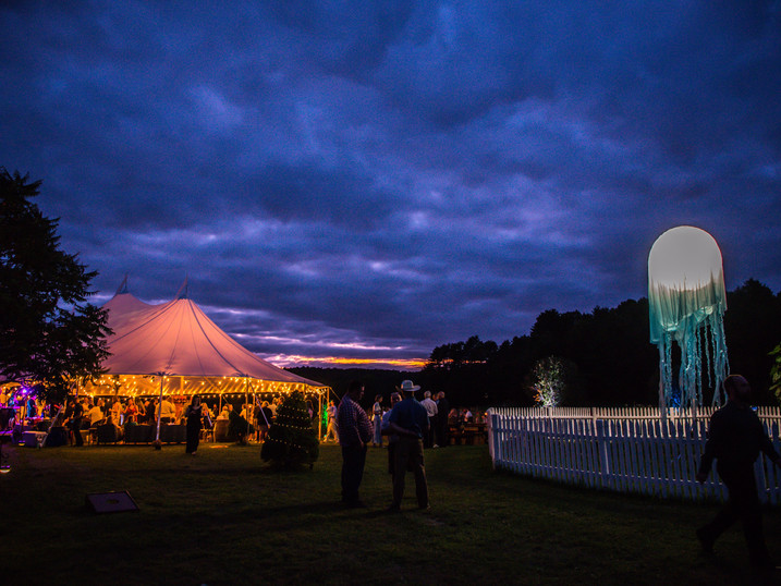 Nightfall Over a Tidewater Tent