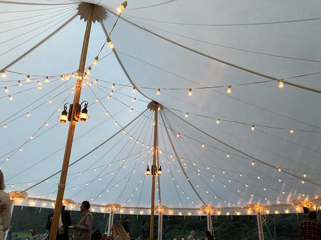 A Fully Lit 44x63 Sailcloth Tent