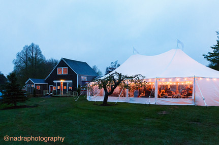 44x63 Tidewater Sailcloth Tent at Live Well Farm