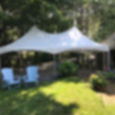 20x30 sailcloth top frame tent. maine commercial tent rental