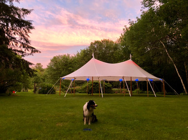 32x50 At Dusk Here At Coastal Maine Canopies