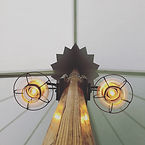Onion Lamps in a Tidewater Sailcloth Tent