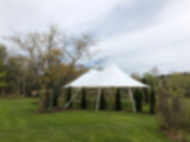 32x50 tidewater tent, sailcloth tent, rustic maine weddings, nautical wedings, tent rentals, wedding rentals, Live Well Farm