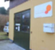 Indgangen til Malerfirmaet Svend Aage Sørensen, Nordsjælland