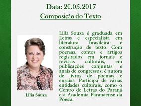 """""""COMPOSIÇÃO DO TEXTO"""", no CURSO DE CRIAÇÃO LITERÁRIA com LILIA SOUZA"""