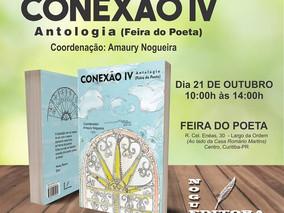 """CONVITE: Lançamento da Antologia """"CONEXÃO IV - Feira do Poeta"""""""