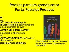 Poesias para um grande amor, de Luiz Arthur Montes Ribeiro - Sessão de Autógrafos