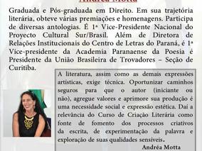 """CURSO DE CRIAÇÃO LITERÁRIA  """"Criação de Poemas/Trovas"""""""
