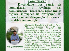 CURSO DE CRIAÇÃO LITERÁRIA  25/03/2017 - Revolução nas Comunicações e seus Diversos Canais