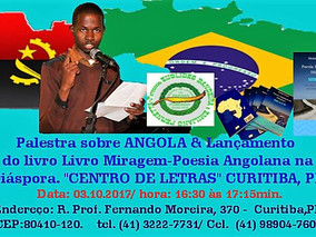 """Palestra """"NARRANDO ANGOLA"""" e Sessão de Autógrafos, com MOISÉS ANTÓNIO"""