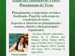 CURSO DE CRIAÇÃO LITERÁRIA - Programação para o dia 13/05/2017