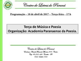 PROGRAMAÇÃO PARA O DIA 18/04/2017