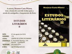 NEUMAR CARTA WINTER lança livro no Centro de Letras do Paraná