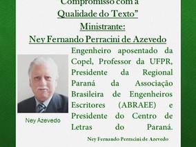 AMANHÃ, 24/06, no Centro de Letras do Paraná