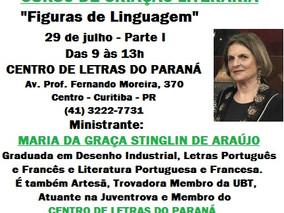 """""""FIGURAS DE LINGUAGEM - Parte I"""" - Curso de Criação Literária"""