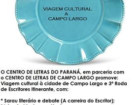 """CONVITE: """"VIAGEM CULTURAL A CAMPO LARGO"""""""