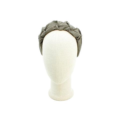 Glen Plaid Ruched Headband