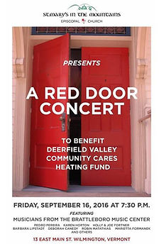 Red Door Concert, September 2016 at St. Mary's in the Mountain