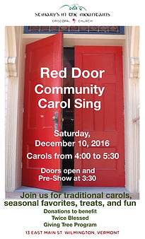 Red Door Carol Sing 2016 at St. Mary's in the Mountains