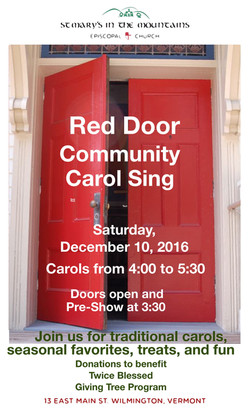 Red Door Carol Sing Poster