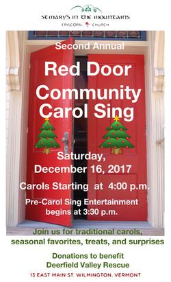 Red Door Carol Sing 2017 Poster