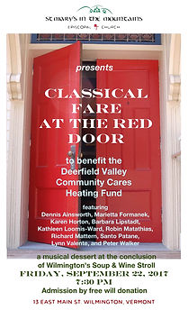 Classical Fare at Red Door at St. Mary's in the Mountains