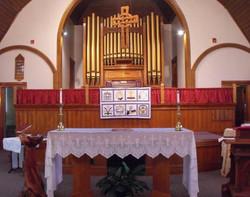 St. Mary's Sanctuary, organ, alter