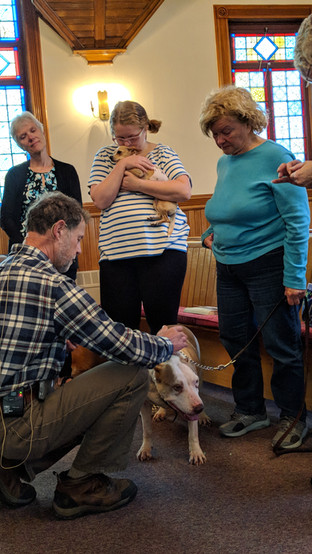 Doug Fruge at Blessing of the Animals