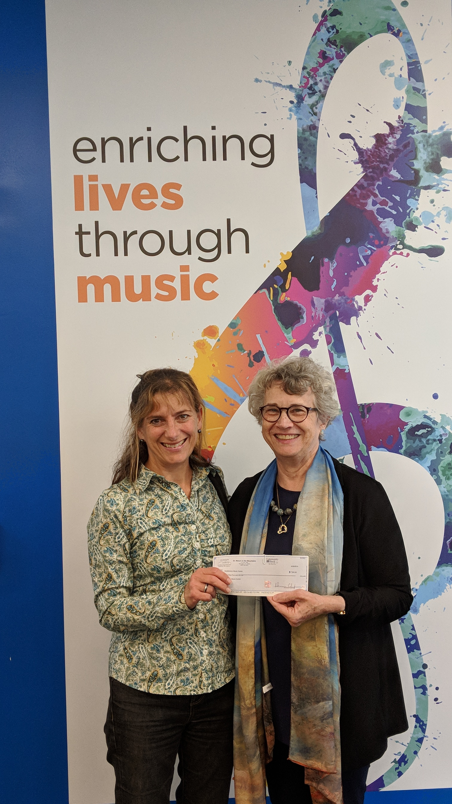 Brattleboro Music Center donation