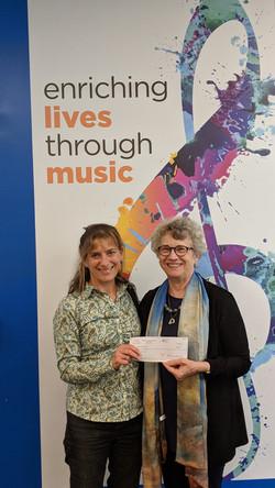 Brattleboro Music Center donation