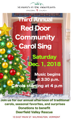 Red Door Carol Sing Poster 2018