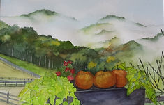 Gale Champion Misty Mountains Painting.j