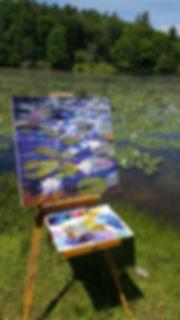 Kathy Reece Water Lilies at Bass Lake, B