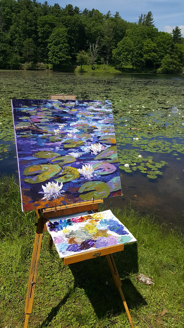 Kathy Reece Water Lilies at Bass Lake, B