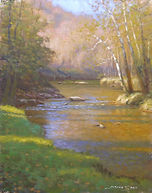 Jeremy Sams_Autumn on the Watauga_14x11_