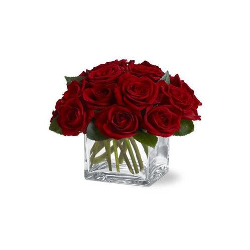 Dozen Rose Cube