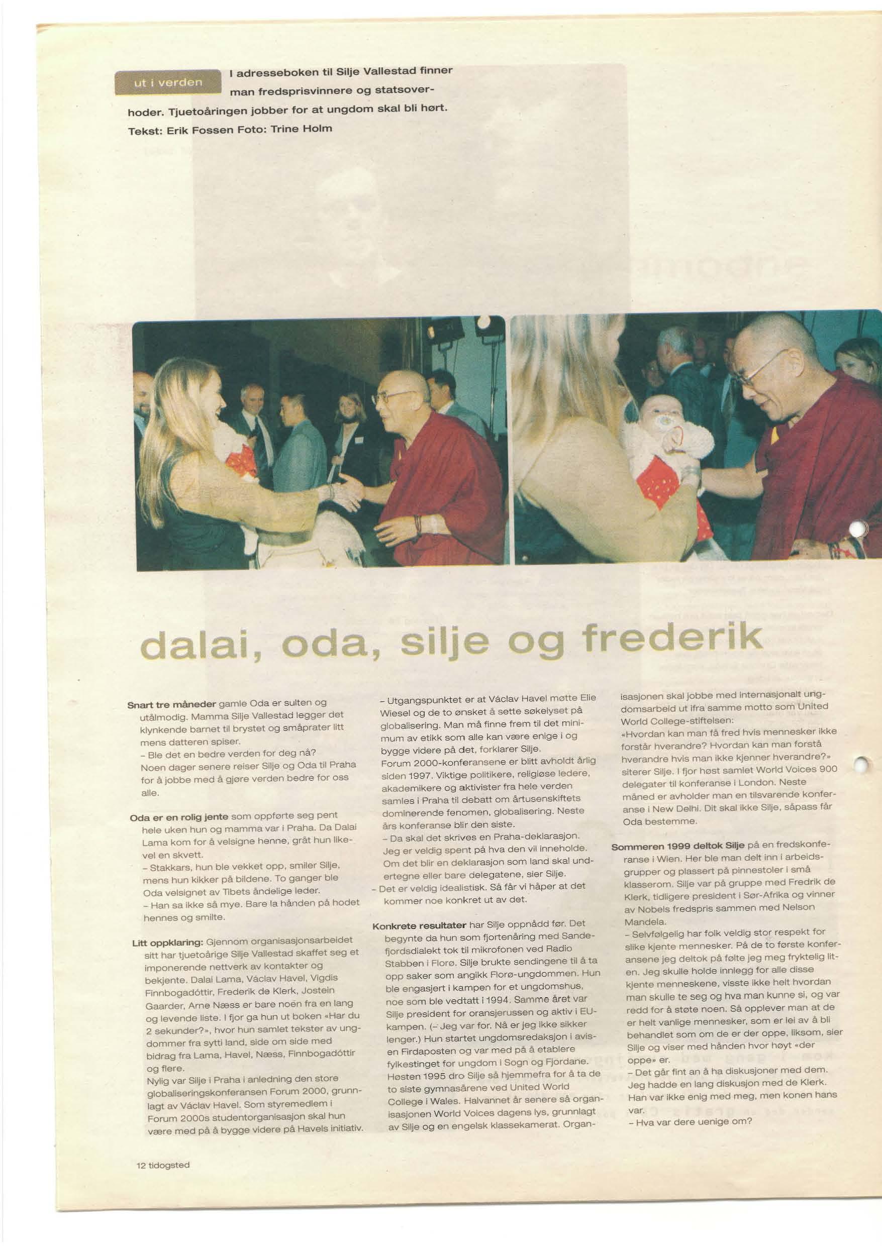 BT - 2000 - Dalai, Oda, Silje og Frederik_side1