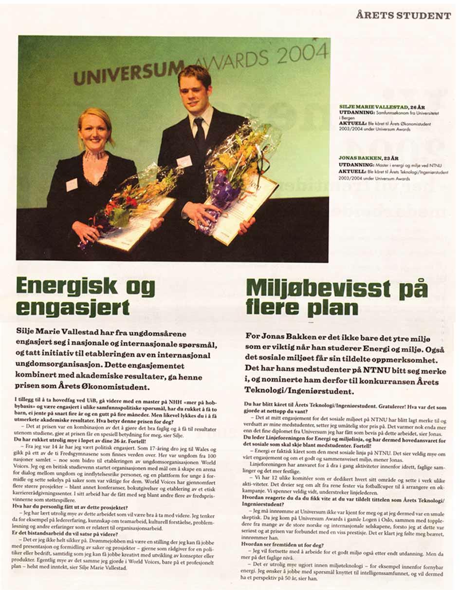 Aftenposten - 2004 - Energisk og engasjert (Universum)