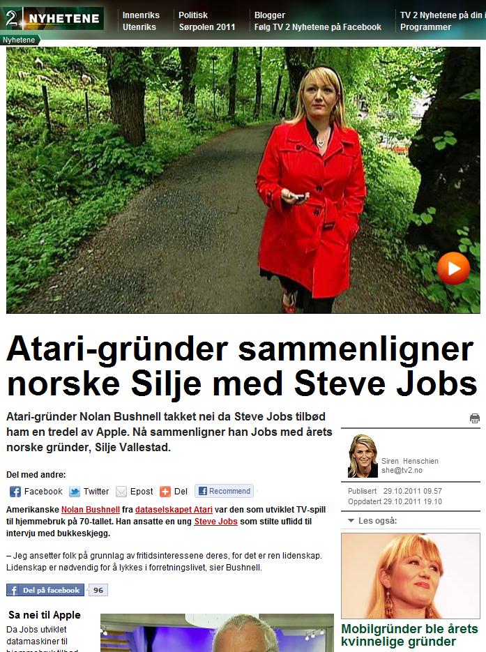 2011.10.29, TV2 - Silje og Jobs