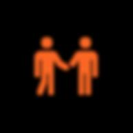 icone d'une rencontre entre deux personnes