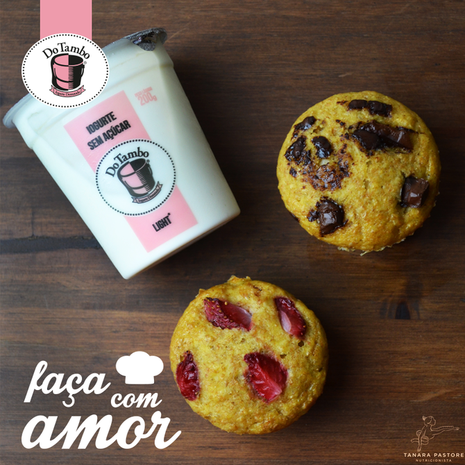 MUFFIN DE BANANA COM DO TAMBO