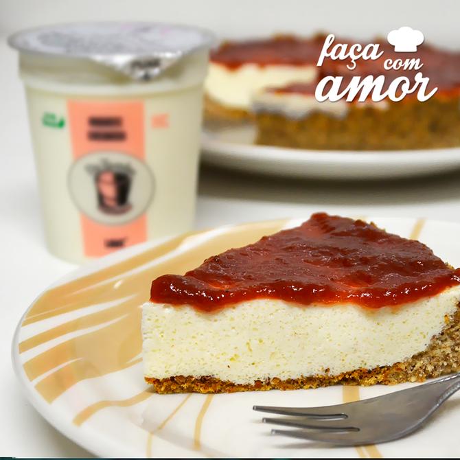 Cheesecake fácil e saudável