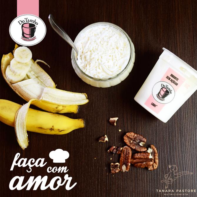 Mousse de coco com banana que garante proteína e antioxidantes para seu corpo!